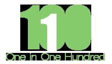 1 in 100 logo